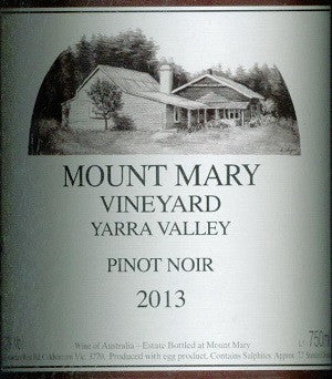 Mount Mary Pinot Noir 2013 750ml, Yarra Valley