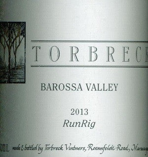Torbreck RunRig Shiraz 2013 750ml, Barossa Valley