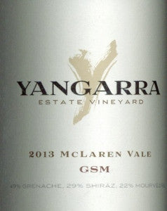 Yangarra Estate GSM 2013 750ml, McLaren Vale