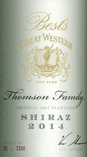 Bests Thomson Family Shiraz 2014 750ml, Grampions