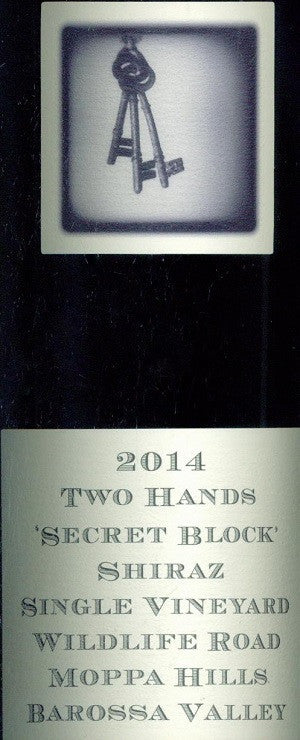 Two Hands Secret Block Shiraz 2014 750ml, Barossa Valley