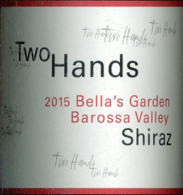Two Hands Bellas Garden Shiraz 2015 750ml, Barossa Valley