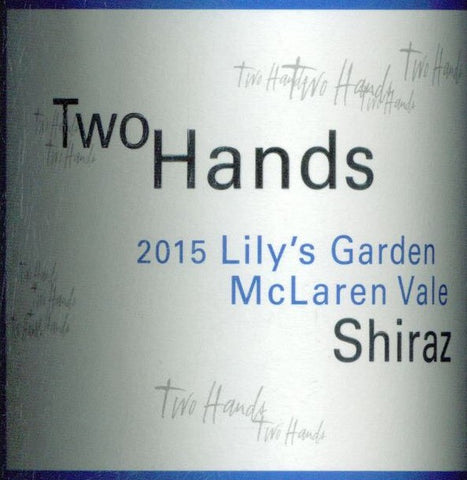 Two Hands Lilys Garden Shiraz 2015 750ml, McLaren Vale