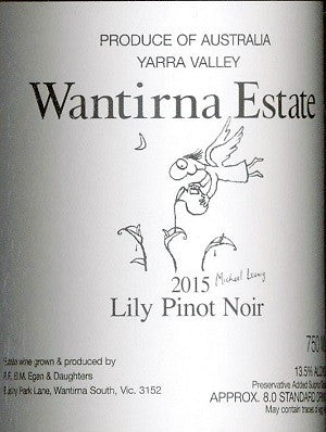 Wantirna Estate Lily Pinot Noir 2015 750ml, Yarra Valley