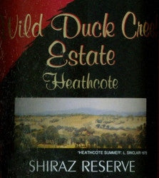 Wild Duck Creek Estate Reserve Shiraz 2006 1.5L, Heathcote