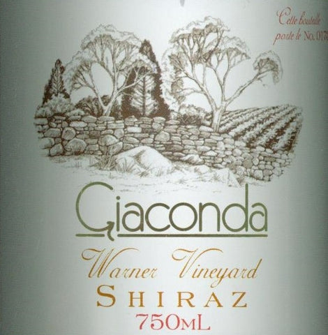 Giaconda Warner Shiraz 2002 750ml , Beechworth