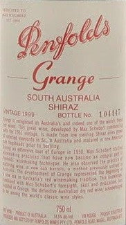 Penfolds Grange Shiraz 1999 750ml