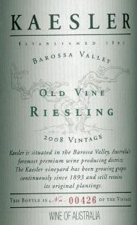Kaesler Old Vine Riesling 2008 750ml, Barossa Valley