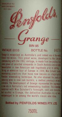 Penfolds Grange Shiraz 2008 750ml, South Australia