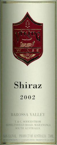 Viking Estate Shiraz 2002 750ml, Barossa Valley