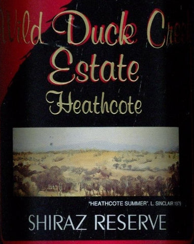 Wild Duck Creek Estate Shiraz Reserve 2005 750ml, Heathcote