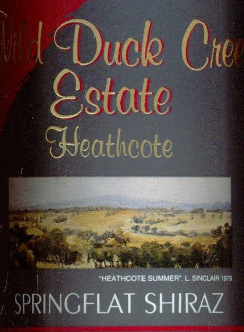 Wild Duck Creek Estate Springflat Shiraz 2006 750ml , Heathcote