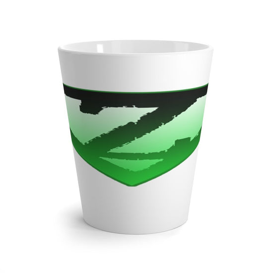 12 oz Latte mug | Zombie Survival Kit For Smokers Printify