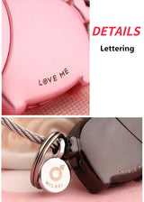 Kissing Piggies Couples Keychain