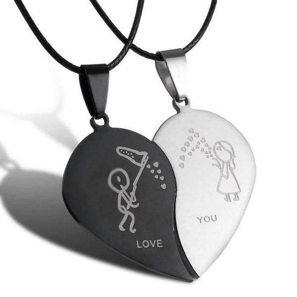 Stainless Steel Couple Necklaces