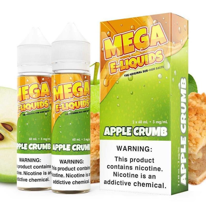 MEGA SUB OHM SALT SERIES | Apple Crumb 2X60ML eLiquid Flawless Vape Shop