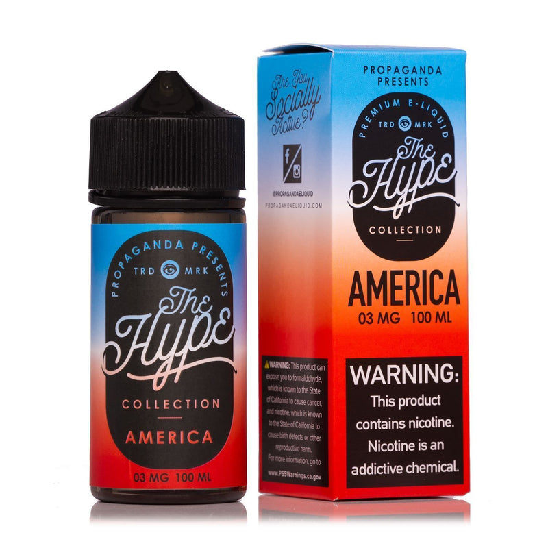 America by The Hype Collection 100ml Rocket Pop, Tastes Like America