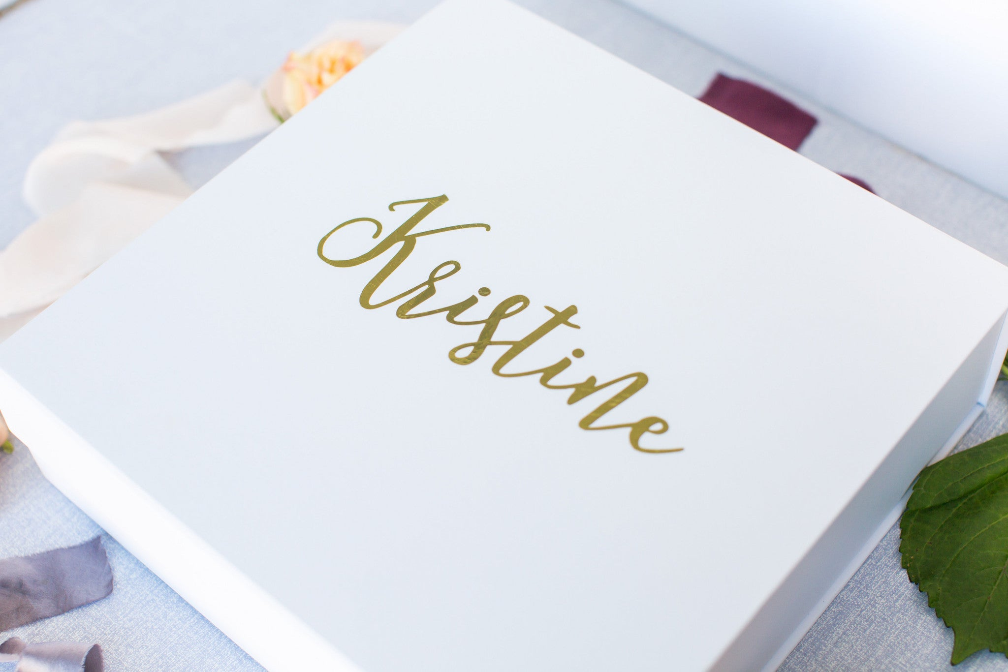 Personalized Gold Foil Gift Boxes – Presently Plum