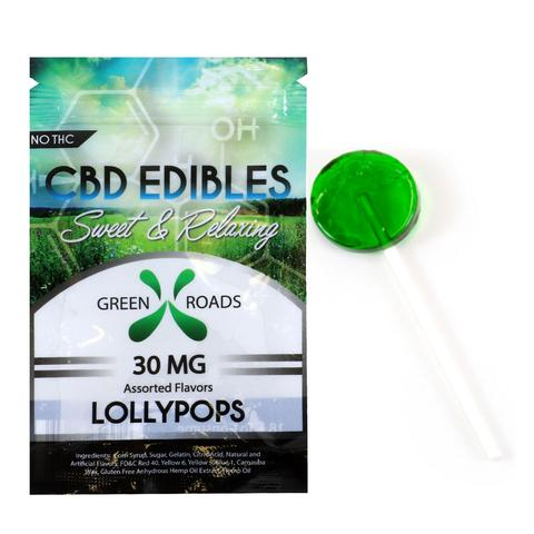 CBD Green Apple Lollipop