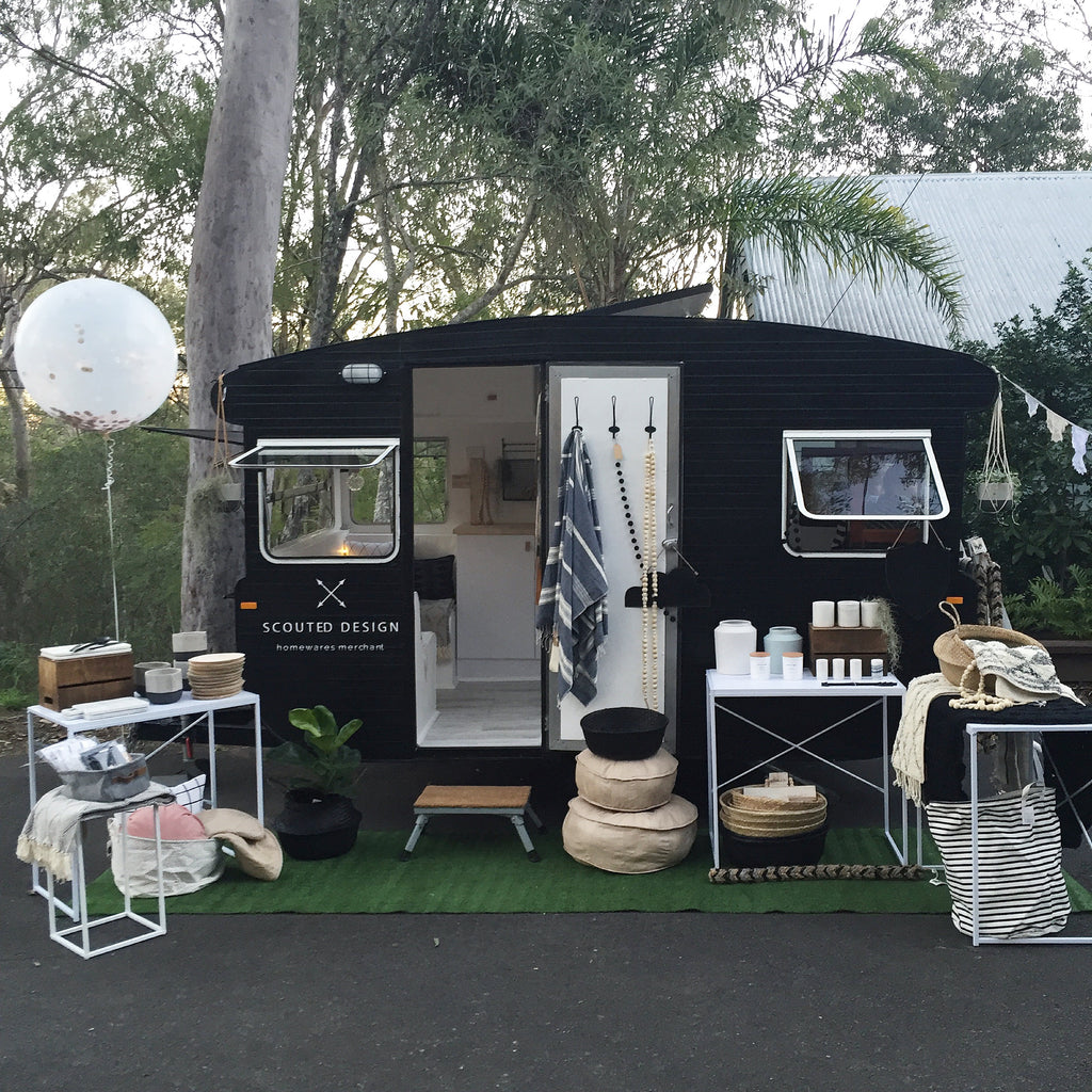 caravan pop up shop travelling store scouted design homewares