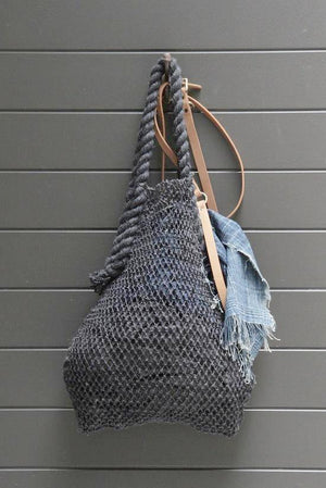 Charcoal Hemp String Bag - Dharma Door