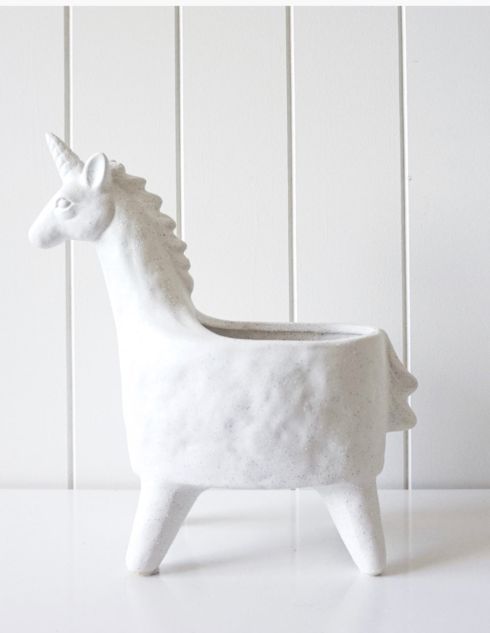 Unicorn Planter - White