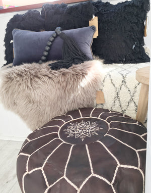 Swan Lake Cushion with Fringe