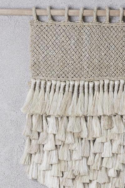 Jute Macrame Wall Hanging Natural with Tassels