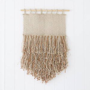 Jute and Leather Wall Hanging