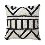 Black and White Hand Knotted Cushion