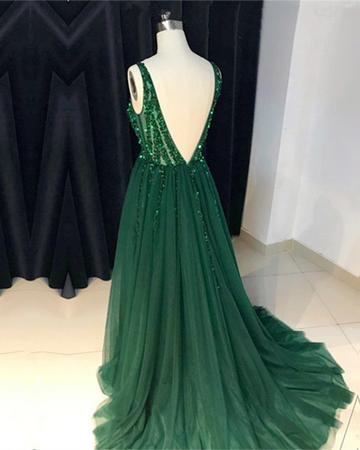 Green Prom Dress Long, Prom Dresses, Graduation Party Dresses, Pageant Dresses, Formal Dresses