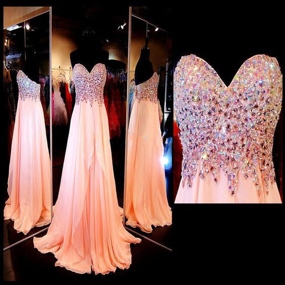 Sheeth Beads Bodice and Chiffon Celebrity Prom Dresses pst0161