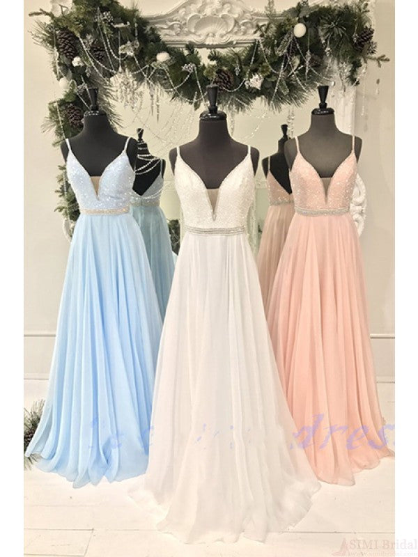 2017 prom dresses, party gowns, gradutation party dresses with spaghetti straps