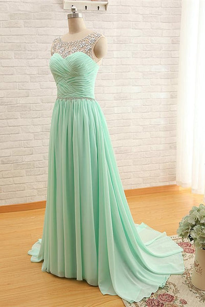 Chiffon Prom Dresses Floor Length pst0378