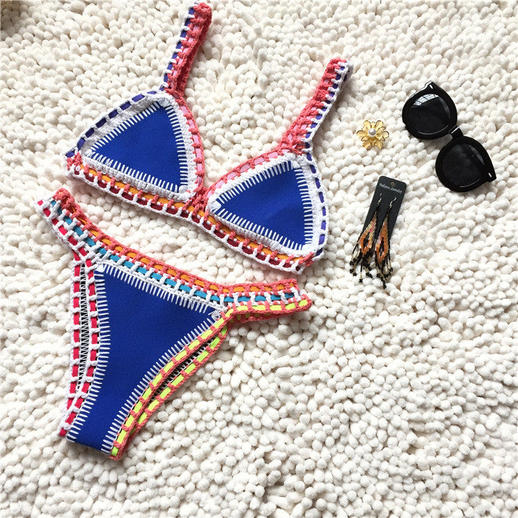 Handmade Triangle Neoprene Bikini Set bb0084C