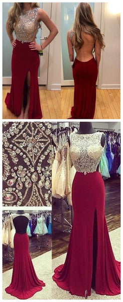 Backless Prom Dress Sexy Evening Party Gown pst0817