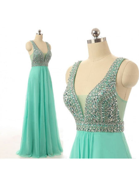 Chiffon Prom Gowns Homecoming Dresses Beads Bodice pst0433