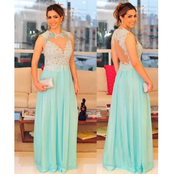 Long Prom Dress with V Neckline pst0458