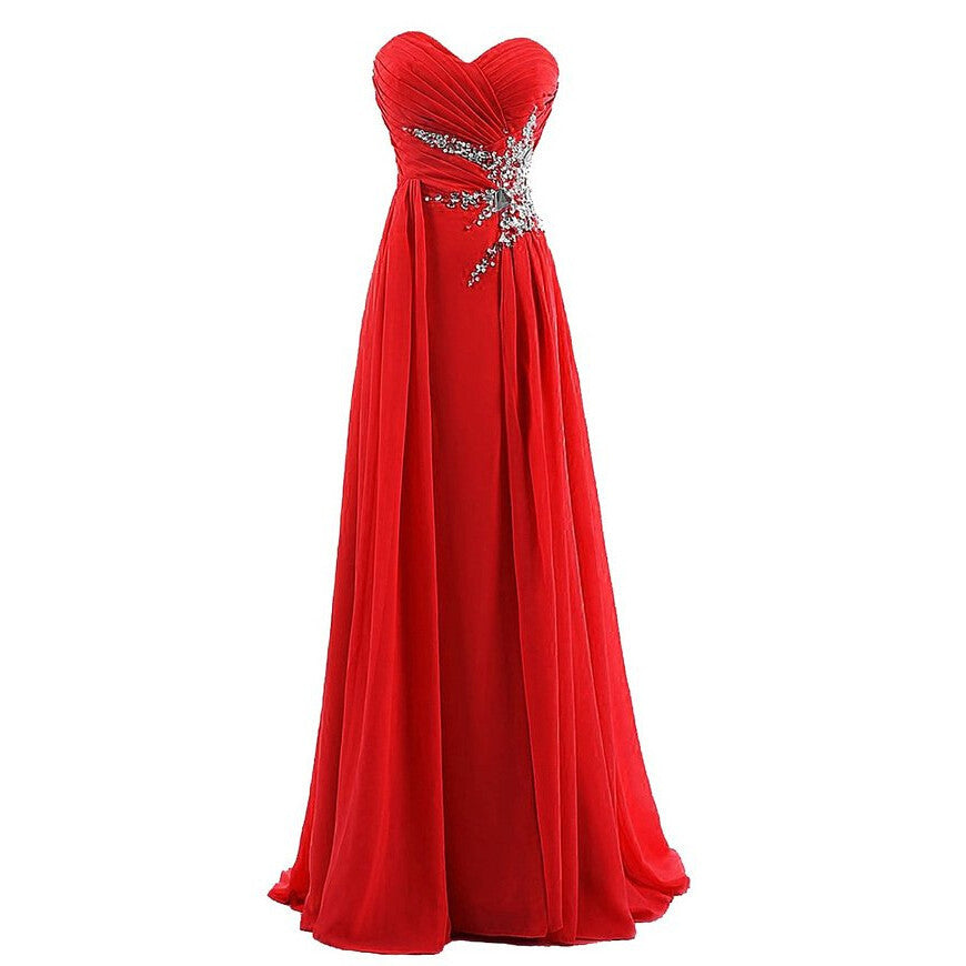 Red And Royal Blue Dress For Prom pst0470