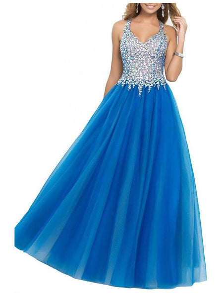 Prom Dress Prom Dresses with Halter Straps Color Free pst0478
