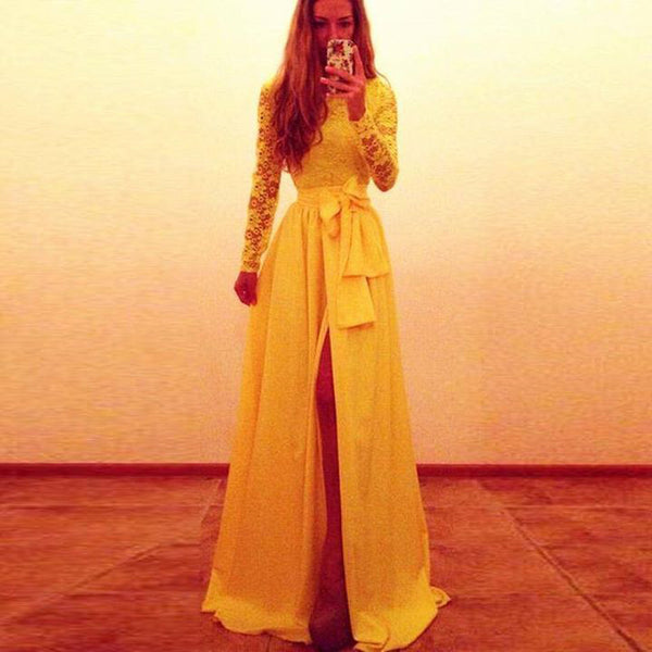 Yellow Prom Dress Party Dresses pst0509