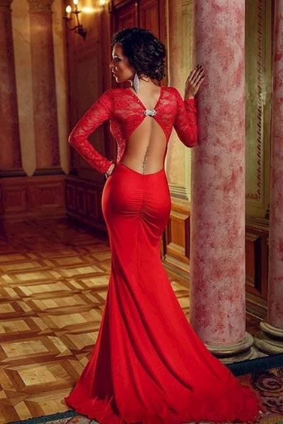 Sexy Red Long Prom Dress Evening Party Gown pst0512