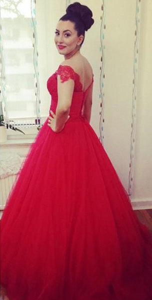 Red Prom Party Dress Off the Shoulder Straps pst0520