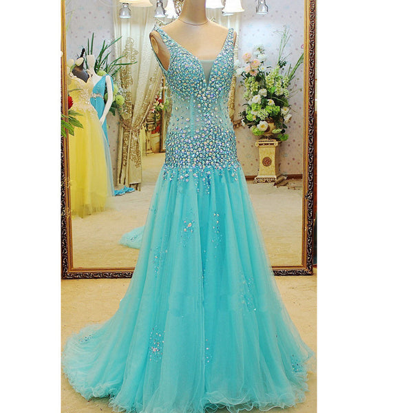 Fashion Dress For Prom with Stones and Crystals pst0525