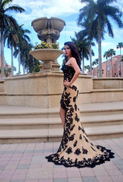 High Low Prom Dress Evening Party Gown pst0586