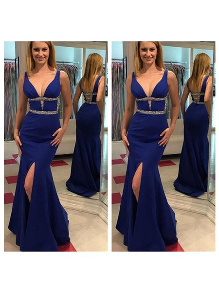 Sexy Blue Color Prom Dress Evening Party Dresses pst0606