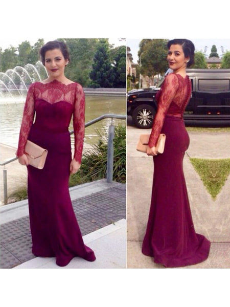 Long Prom Dress With Sleeves pst0607