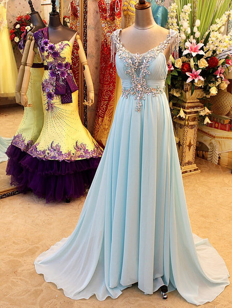 2016 Prom Dress Evening Gown In Chiffon And Shinning pst0614
