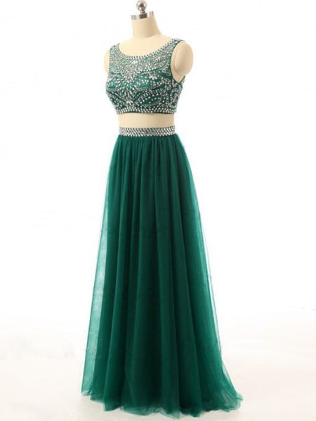 Custom Made Prom Dress Evening Gown In Two Pieces pst0615