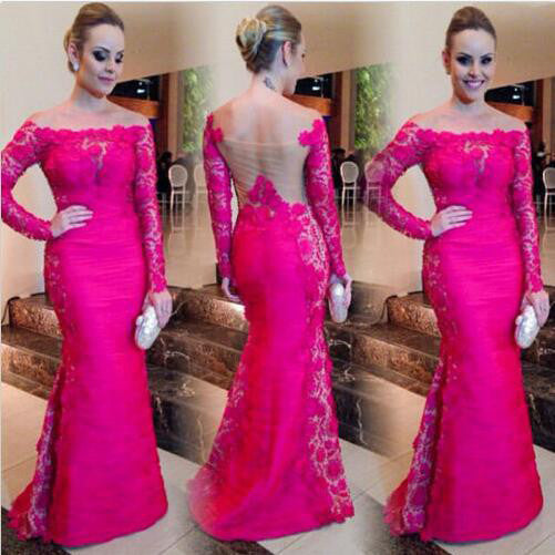 Fashion Prom Dress With Sleeves Evening Party Dresses pst0669